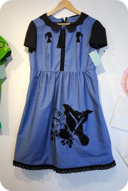 Black & Blue Raven Dress