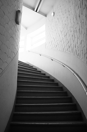 Control tower staircase, Old Kallang Airport
