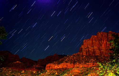 Zion Canyon Star Trails