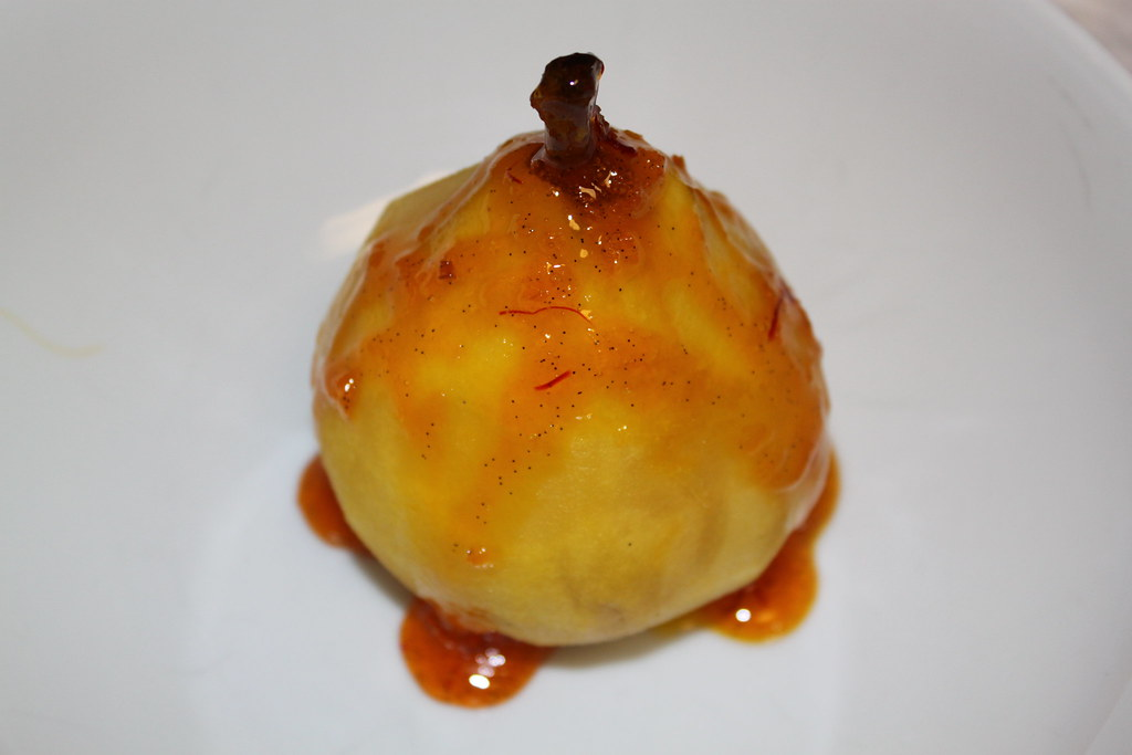 Poached Pear with Saffron Syrup Recipe