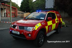 New 4x4 delivered to Cahir Fire Station (Jonathan Ryan - Tipperaryphotos.com) Tags: ireland rescue fire tipperary mitsubishi cahir crewcab juliet1
