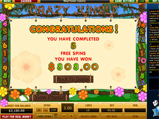 free Crazy Jungle slot bonus game