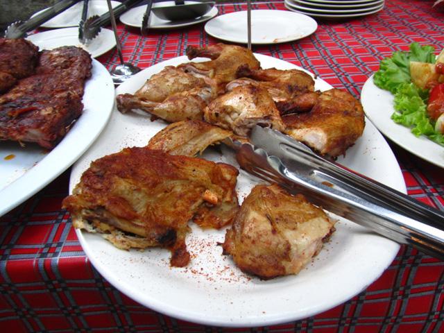 Platter of grilled chicken