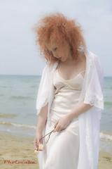 Klarika-7531 (Cristian Photocuba) Tags: red beach model mare spiaggia sabbia klarika sottoveste photocuba