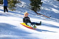 Flying (TheOrganicSister) Tags: snow kids fun play lasvegas sledding sled mtcharleston sleds zeb unschooling lifelearners