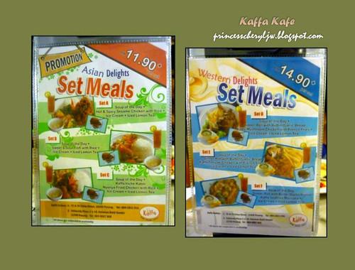Kaffa set meals