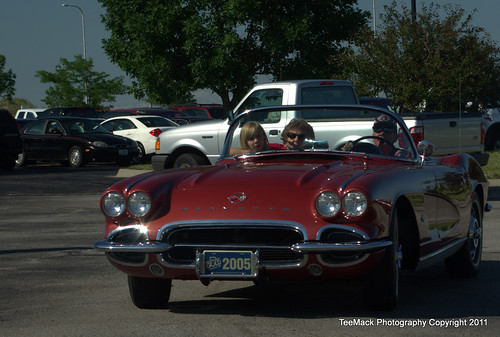 1958 Corvette On display at the 2011 KCI SemiAnnual Cruise in Kansas City