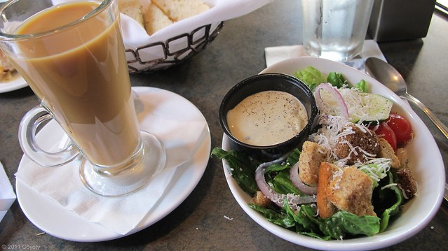 Salad and coffee
