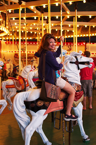 Me on the Wonderland carousel.