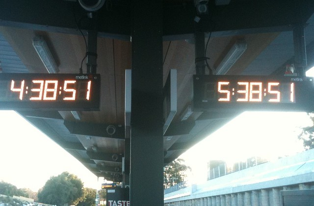 Station clocks disagree