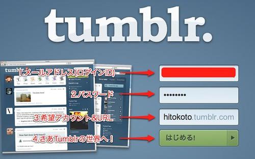 登録する | Tumblr
