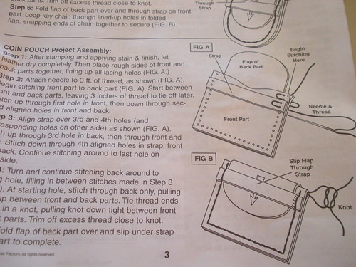 Leathercraft instructions