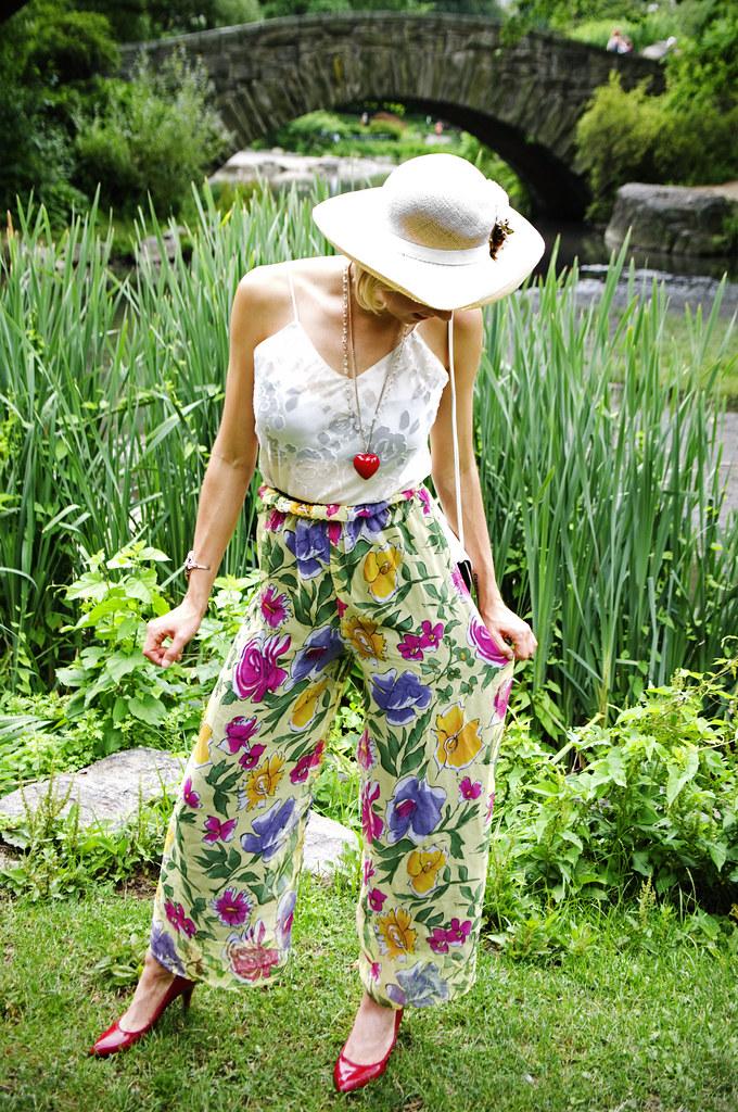 vintage floral palazzo pants sammy davis vintage