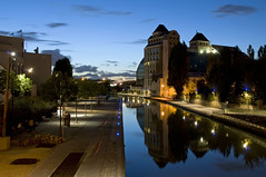 France - Pantin - Les Grands Moulins de Pantin (Thierry B) Tags: france night geotagged photography twilight frankreich eau europe cityscape exterior photos nacht outdoor dusk dr frana bynight explore geotag fr extrieur iledefrance reflets nocturne parijs idf urbanscape pars parigi  pantin   canaldelourcq geolocation pras  photographies     horizontales europedelouest   noctambule paysageurbain      grandsmoulinsdepantin photosnocturnes gotagg thierrybeauvir  beauvir wwwbeauvircom droitsrservs heuremagique  20101024
