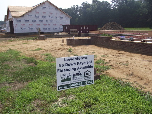 Home Construction creating Jobs:  Self-Help Housing Homes being built at the Crescent Shores Subdivision, Lincoln, Delaware.