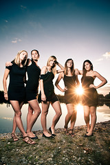 Ladies in black (STEFFEN EGLY) Tags: ladies girls sunset portrait sky sun lake beautiful lady canon young softbox strobe baggersee 500d weisweil strobist 430exii 1585mm