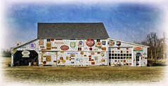 Brian_Signs of the Time 1a_022612_2D (starg82343) Tags: 2d brianwallace milford de delaware rural shed barn signs ads advertisements retro old decor decoration collection grouped group assortment collector grass building structure artistic textures photoshop filters manipulation fx sfx effects digitalmanipulation digitallymanipulated digitallyaltered digitallyenhanced retrosigns