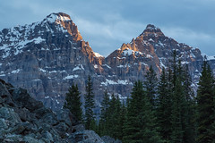 Light at the End ... on the Peaks (Ken Krach Photography) Tags: lakemoraine banffnationalpark