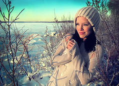 Winter wonderland (Meiio86) Tags: blue winter cold love ice beautiful smile happy photography photo nice model eyes sweden feeling modelling inlove skrgrd lule lule modelphotography