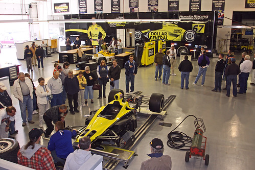 HARF tour Sarah Fisher Racing's shop