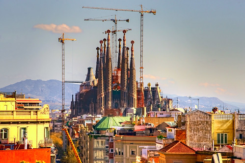 Sagrada Familia From Casa Mila