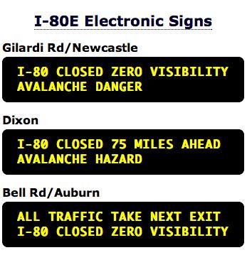 I-80E Electronic Signs