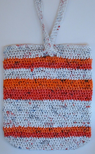 Pink & Orange Recycled Plastic Tote Bag