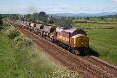 EWS 37670 at Forteviot (60044) Tags: tractor st yard rail db class depot network 37 carlisle trs dbs ballast blazey railtrack schenker ews forteviot autoballasters achnashen 6k66