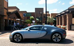 Bugatti Veyron (Monkey Wrench Media) Tags: arizona silver french noir side wheels profile az spot chrome german scottsdale bugatti sang rare borgata veyron theborgata worldcars