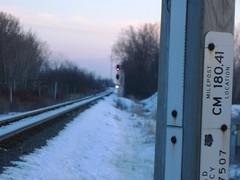 Time to get Ready (Wide Cab) Tags: cn train twilight signal freight canadiannational intermediate manifest shermanroad a447 neenahsub winnebagowi