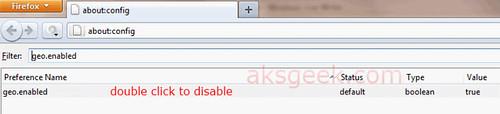 Firefox geoenabled