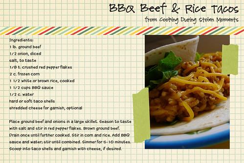 BBQ Beef & Rice Tacos
