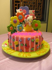Hello kitty cake (Jcakehomemade) Tags: sanrio hellokittycake childrensbirthdaycake fondantcake noveltycake girlsbirthdaycake jcakehomemadeblogspotcom jessicalaw sanriohellokittycake customizedbirthdaycake paisleyscelebrationcake
