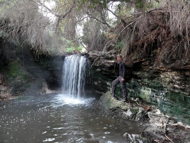 40 graden waterval van Geothermaal water