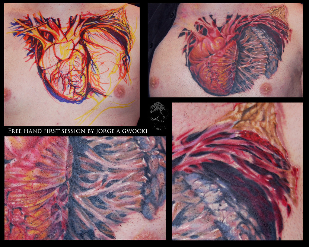 Texas With Heart Tattoo