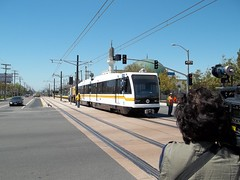 Expo Line Rail Car Clearance Testing: Vermont Station (jwalker64) Tags: county light test car train project los construction expo metro angeles authority rail line exposition transportation transit vehicle mta clearance lrt metropolitan hirail lacmta lrv