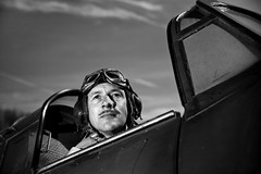 Hurricane Pilot. Battle of Britain shoot. (Nick Halling) Tags: portrait plane wizard hurricane f 5d canon5d pocket pilot raf scramble reenacting battleofbritain ww11 24105l pocketwizard strobist 580ex11 flextt5 minitt1