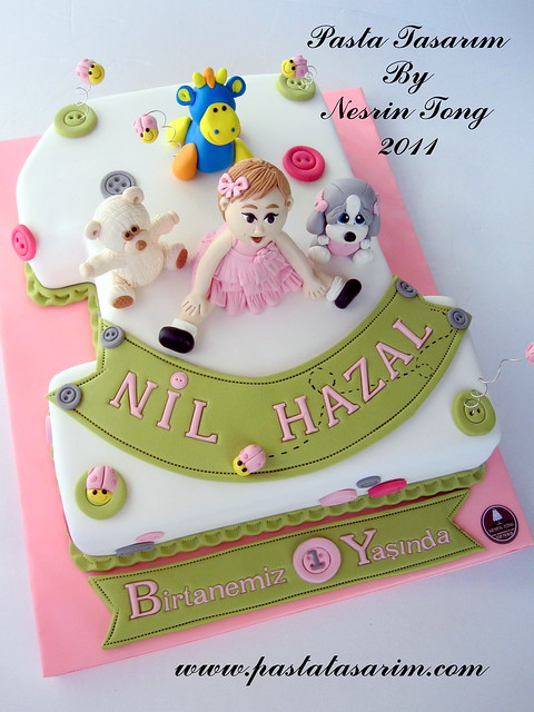 1ST BIRTHDAY CAKE - NIL HAZAL BIRTHDAY