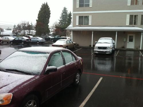 Yup. Snow in April.