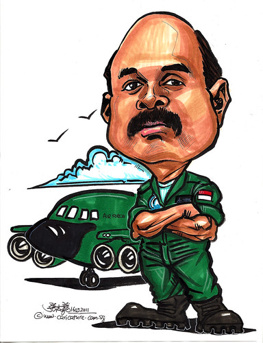 Caricature for Singapore Changi Air Base