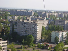 Outskirts from the height (Phnom) Tags: blue sky urban green grey spring apartment russia south may clear highrise boxes height outskirts publichousing highestpoint taganrog roofering