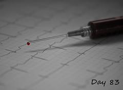 Project 365, Day 83 (Cat Girl 007) Tags: hospital blood needle drugs syringe medicine ekg healing healthcare rhythm cardiac project365 andthebeatgoeson macromonday shuttersisters365