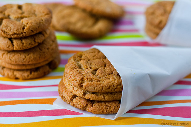 Cornish Fairings cookies wrapped in wax paper cones