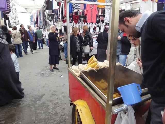 Milho cozido em Istambul