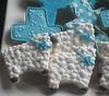 close-up of sheep cookies (Songbird Sweets) Tags: sheep baptism sugarcookies