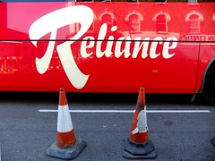Reliance (J Mark Dodds [a shadow of my future self]) Tags: tarmac cone cones whitelines reliance coachbus dscf1383 jmarkdodds denmarkhillcamberwelllondonse5
