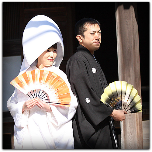 A Traditional Japanese Wedding Couple (close-up)