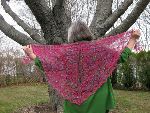 Budding Easter Shawl