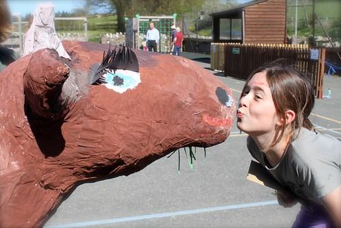 A kiss for a cow