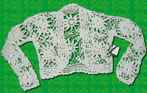 bolero cru by Scheila Veiga Crochet